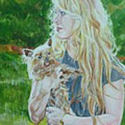 Elizabeth South And Ginger Art Print