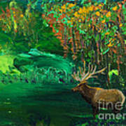 Elk Fall Art Print