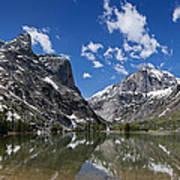 Elk Lake Panorama 1 Art Print