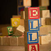 Ella - Alphabet Blocks Art Print