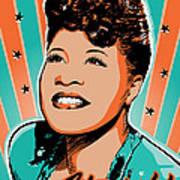 Ella Fitzgerald Pop Art Art Print