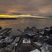 Elliott Bay Seattle Evening Art Print
