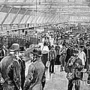 Ellis Island Immigration Hall, 1890s Art Print