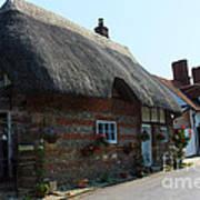 Elm Cottage Nether Wallop Art Print