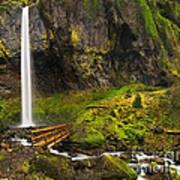 Elowah Falls Panorama -  Columbia River Gorge In Oregon Art Print