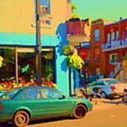 Elses Pub Cafe Plateau Montreal Corner Roy And De Bullion City Scene Art Of Montreal Carole Spandau Art Print