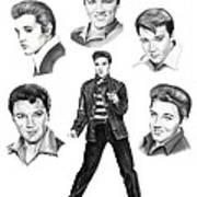 Elvis Elvis Elvis Art Print