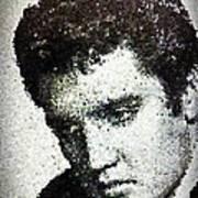 Elvis Love Me Tender Mosaic Art Print