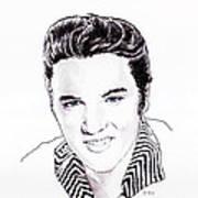 Elvis Art Print by Martin Howard