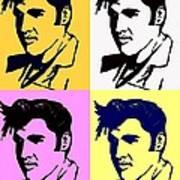 Elvis Pop X Four Art Print