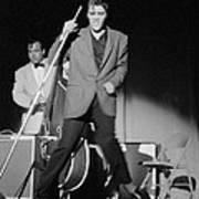 Elvis Presley And Bill Black Performing In 1956 Art Print