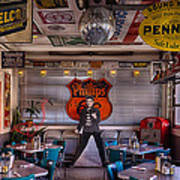 Elvis Presley At Albuquerque's 66 Diner Art Print