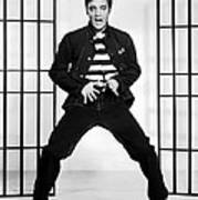 Elvis Presley In Jailhouse Rock 1957 Art Print