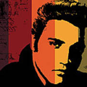 Elvis Presley Art Print by Kenneth Feliciano