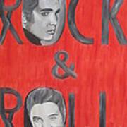 Elvis Presley King Of Rock And Roll Art Print