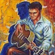Elvis Presley- Shadow Duet Art Print