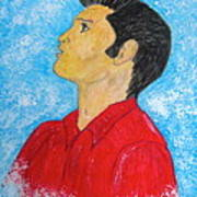 Elvis Presley Singing Art Print