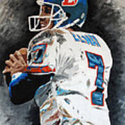 Elway Art Print by Don Medina