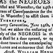Emancipation Notice, 1775 Art Print