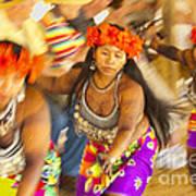 Embera Villagers In Panama Art Print
