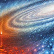 Embers Of Exploration And Enlightenment Art Print