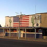 Emblazoned American Flag Silver Dollar Bar Eloy Arizona 2004 Art Print