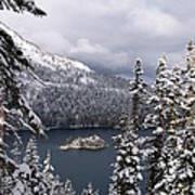 Emerald Bay In Winter Art Print