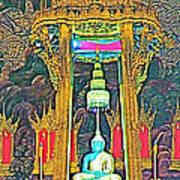 Emerald Buddha In Royal Temple At Grand Palace Of Thailand Art Print