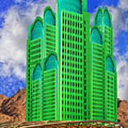 Emerald Desert Palm Springs Art Print