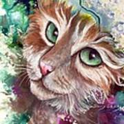 Emerald Eyes Art Print