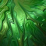 Emerald Flow Art Print