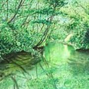 Emerald Stream Art Print
