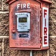 Emergency Fire Box Art Print