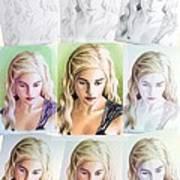 Emilia Clarke Miniature Step By Step Print by Wu Wei