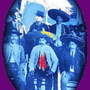 Emiliano Zapata In Group Portrait Xochimilco  Outside Of Mexico City 1914-2013 Art Print