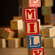 Emily - Alphabet Blocks Art Print