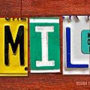 Emily License Plate Name Sign Fun Kid Room Decor Art Print