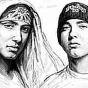 Eminem Art Drawing Sketch Poster Art Print