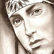 Eminem Art Print by Michael Mestas