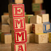 Emma - Alphabet Blocks Art Print