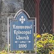 Emmanuel Episcopal Church  Art Print