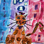 Emma's Spotted Kitty Art Print