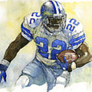Emmitt Smith Art Print by Michael  Pattison