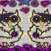 Emo Owls Art Print