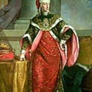 Emperor Francis I 1708-65 Holy Roman Emperor, Wearing The Official Robes Of The Order Of St. Stephan Art Print