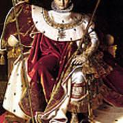 Emperor Napoleon I On His Imperial Throne Art Print