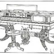 Empire Period Piano 1820 Art Print