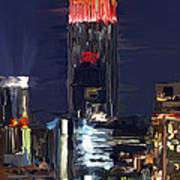 Empire State Buidling On The Water Art Print