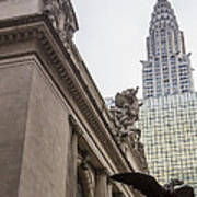 Empire State Building And Grand Central Station Art Print by For Ninety One Days