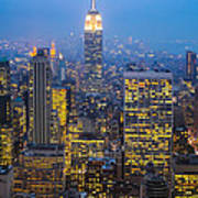 Empire State Building And Midtown Manhattan Art Print